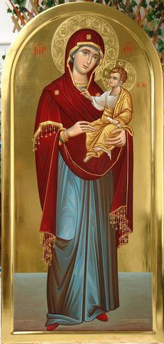 The Theotokos and the Christ Child Religious Pictures, Religious Icons, Religious Art, Religion, Writing Icon, Church Icon, Mama Mary, Russian Icons, Blessed Mother Mary