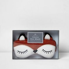 Brown fox fragrant eye mask