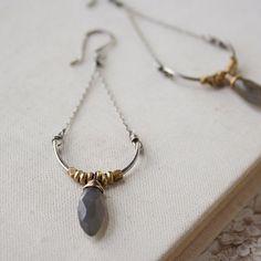 Labradorite Swing Earrings labradorite brass by amyolsonjewelry, $60.00