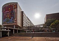 Las famosas rampas...  Facultad de Medicina de la UNAM. México, D.F.