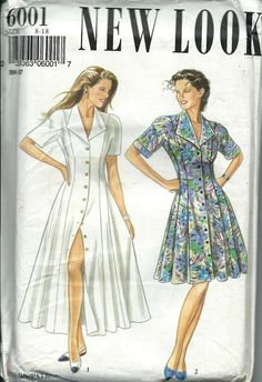 New Look 6001 Misses Flared Button Front by DawnsDesignBoutique