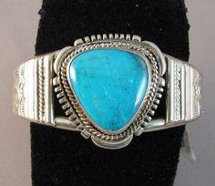 My favorite blue! Genuine Native American turquoise bracelet...