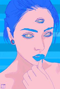 art girl creepy lsd drawings incredible self-portrait terrified lsd trip after and before Psychedelic Art, Art Pop, Dope Kunst, Chat 3d, Art Pastel, Psy Art, Gifs, Dope Art, Art Plastique