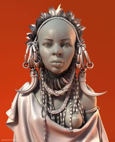 // African Women - Wire by Moises Gomes
