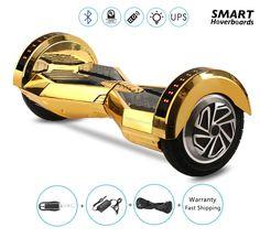 8 inch lamborghini chrome gold hoverboard with remote