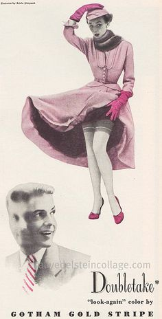 vintage stocking ads | Vintage Stockings ad Double Your Pleasure 1951 | Flickr - Photo ...