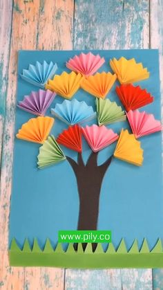 Paper Flowers Craft, Paper Crafts For Kids, Craft Activities For Kids, Preschool Crafts, Diy Crafts For Adults, Diy Paper, Easy Diy Crafts, Diy Arts And Crafts, Art Drawings For Kids