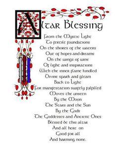 Altar Blessing - Wiccan www.psychickerilyn.com www.facebook.com/PsychicKerilyn