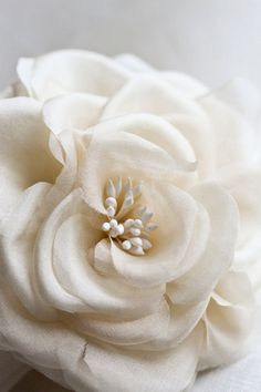 CHARLOTTE Bridal Hair Flower Silk Flower Flower by percyhandmade
