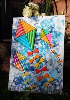 Benodigdheden:  - wit A4 papier  - wattenschijfjes  - verf  - grijs potlood/ gum  - stiften  - lijm  - eventueel 3D stickertjes   We ... Spring Art Projects, School Art Projects, Summer Crafts, Summer Art, Kindergarten Art Lessons, 3rd Grade Art, Art N Craft, Art Classroom, Art Plastique