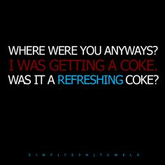 Was it a refreshing Coke? Cracks me up every single time. The Rapture Supernatural Season 4, Supernatural Cartoon, Supernatural Quotes, Hottest Guy Names, Winchester Boys, Winchester Brothers, Bobby Singer, E Cards, Superwholock