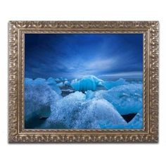 Trademark Fine Art 'Think Blue' Canvas Art by Philippe Sainte-Laudy, Gold Ornate Frame, Multi