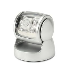 PIR Motion Sensor Wall Light Wireless 360° Rotation Activated 6 LED Garden Lamp