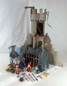 Vintage Playmobil Baron's Battle Tower Castle 3665 Knights Retired Instructions