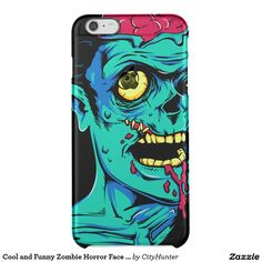 Cool and Funny Zombie Horror Face - Transparent