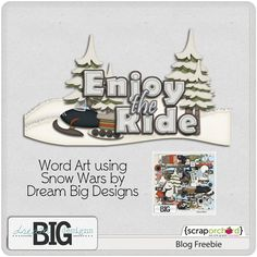 Scrapbooking TammyTags -- TT - Designer - Dream Big Designs,  TT - Item - Word Art, TT - Winter or Snow