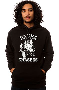 The Paper Chasers Pullover Hoody in Black by Crooks and Castles