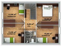 Proiect deosebit de casa cu mansarda cu 4 dormitoare cu arhitectura moderna – Idei case Home, Ad Home, Homes, Haus, Houses