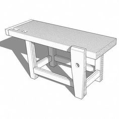 Easy Woodworking Projects With these Roubo-Style Woodworking Workbench plans, Ill show YOU how to build your own Roubo-Style . Small Woodworking Projects, Woodworking Patterns, Woodworking Workbench, Popular Woodworking, Woodworking Furniture, Fine Woodworking, Woodworking Crafts, Wood Projects, Wood Furniture
