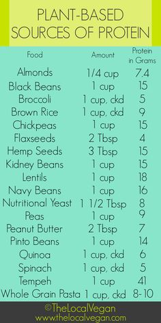 TheLocalVegan-Plant-Based Protein Source Chart