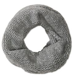 Frontimage view Loop-sjaal in zilver