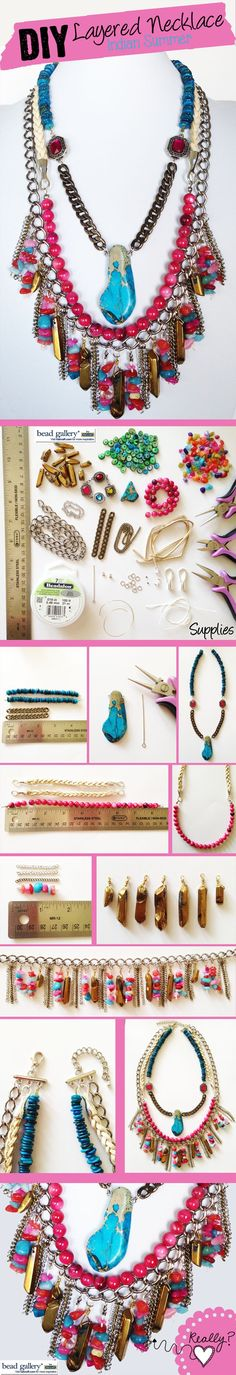 DIY Indian Summer Layered Necklace