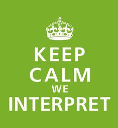Keep Calm We Interpret