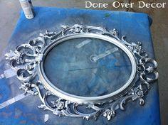 Paint a black frame silver!