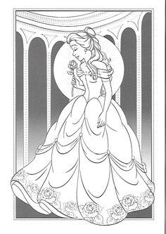 Belle Coloring Pages, Disney Princess Coloring Pages, Coloring Pages For Girls, Colouring Pages, Coloring Books, Disney Princess Crafts, Disney Princess Colors, Disney Colors, Colorful Drawings