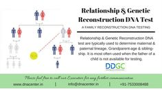 Relationship and Genetic Reconstruction DNA Test- A FAMILY RECONSTRUCTION DNA TESTING