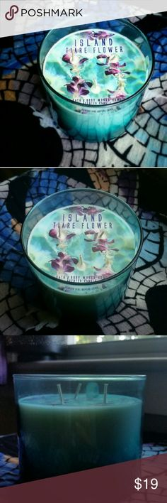 """Selling this """"Island Tiare Flower"""" 3-Wick Candle on Poshmark! My username is: poshboston. #shopmycloset #poshmark #fashion #shopping #style #forsale #Bath and Body Works #Other"""