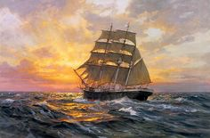 Sailing Into Eternity by Charles Vickery