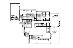 Cottage Style House Plan - 3 Beds 2.00 Baths 1682 Sq/Ft Plan #47-104 Floor Plan - Main Floor Plan