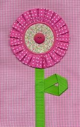 Pleated Flower Applique - 3 Sizes! | Spring | Machine Embroidery Designs | SWAKembroidery.com Applique for Kids