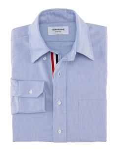 Thom Browne : CLASSIC OXFORD BUTTON DOWN SHIRT WITH GROSGRAIN PLACKET - MWL010AW5258