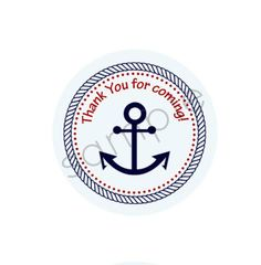 INSTANT Nautical Theme Thank You Tag/Sticker by TwoLaughingLambs, $3.00