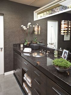 Bathroom Small Bathroom Renovation Design, Pictures, Remodel, Decor and Ideas - page 5  Great website with small bathrooms I like the large mirror with built in natural light