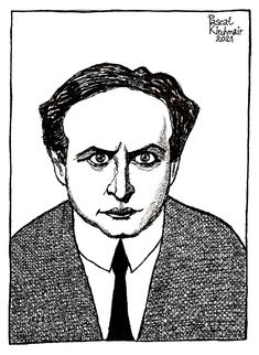 """""""Harry Houdini"""", ink on paper, 29,7 x 42 cm Portraits, Ink, Paper, Head Shots, India Ink, Portrait Photography, Portrait Paintings, Headshot Photography, Portrait"""