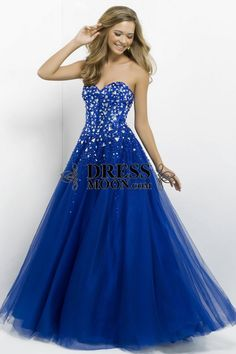 Ball Gown Sweetheart Tulle with Beading snd Sequins Red Prom Dress - PROM