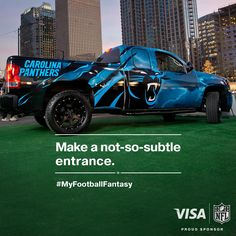"Twitter / Visa: ""The ultimate @Josh Lam Swafford fantasy #sponsorship  GMC Carolina Panthers custom truck"
