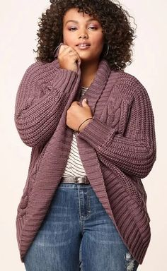 Plus Size Cocoon Cardigan - Plus Size Fashion for Women #plussize