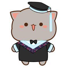 Cute Couple Cartoon, Cute Cartoon Pictures, Cute Love Pictures, Cute Love Cartoons, Cute Images, Chibi Cat, Cute Chibi, Cute Anime Cat, Kawaii Anime