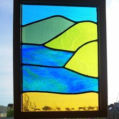 Stained Glass Panel, Sunny Bay £50.00