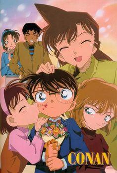 Conan,Ayumi,Ai,Ran,Kazuha e Heiji