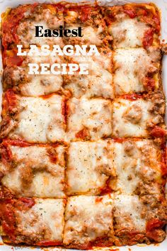 EASIEST Lasagna Recipe (How to Make Easy lasagna with Photos). A classic 3 layer lasagna dish, smothered in a quick meat sauce and a blend of cheeses. Easy and fast dinner! Easy Lasagna Recipe With Ricotta, Homemade Lasagna Recipes, Classic Lasagna Recipe, Beef Recipes, Cooking Recipes, Meatball Recipes, Pasta Recipes, All You Need Is, Easy Dinner Recipes
