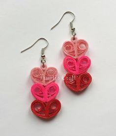 Trupti's Craft: Valentine's Day Paper Quilling Jewelry
