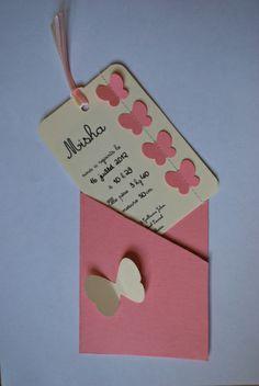 misha fairt part pochette papillon couture sur papier Girly, Scrapbooking, Creations, Unique, Cards, Bb, Couture, Happy Birthday Gifts, Petite Fille
