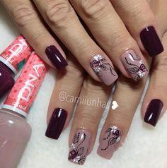 Pretty Toe Nails, Pretty Toes, Winter Nails, Spring Nails, Nail Polish Designs, Nail Art Designs, Mac Nails, Elegant Nail Art, Flower Nails