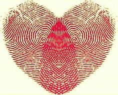 Illustration about Abstract Vector illustration of fingerprints in the shape of a love heart. Illustration of love, romantic, graphic - 27645579