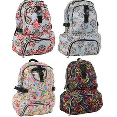 """19"""" Assorted Print Backpacks-These lovely printed style backpacks made to last"""